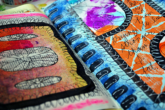 19art journal pages kateri