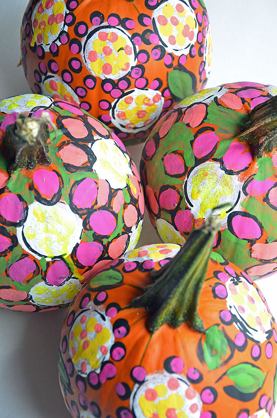 3painted pumpkins