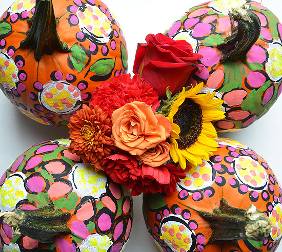 5painted pumpkins