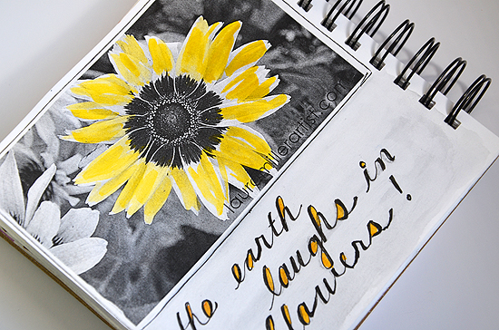 1black white photo copy art journal
