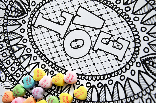 2love peace coloring page