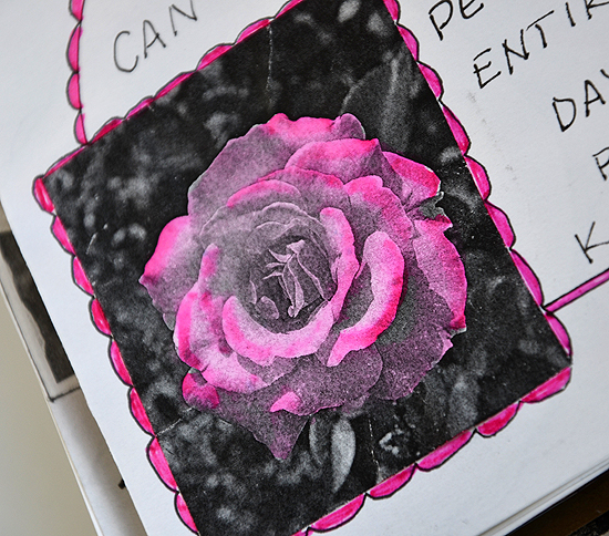 5black white photo copy art journal